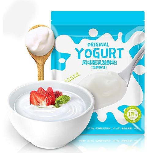 jinclonder Joghurt-Backpulver Probiotisches Pulver für hausgemachten Joghurt Maltodextrin, Lactobacillus acidophilus Joghurt ist glatt, cremig und köstlich und fördert die Darmgesundheit