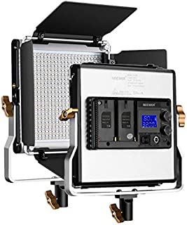 Neewer Upgraded 480 LED Panel, Dimmanable Bi-color LED Video Light with LCD Screen for Product Photography, Studio Video Shooting, Durable Metal with U Bracket and Barndoor, 3200-5600K, CRI 96+