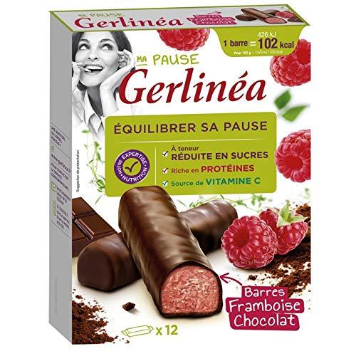 GERLINÉA - Barres Framboise Chocolat 372G - Lot De 3