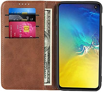 Samsung S9 Case,SunYoo Cowhide Pattern Leather Magnetic Book Wallet Case Stand Holder Flip Cover with Card Slots//Cash Compatible with Samsung Galaxy S9-Wine Red