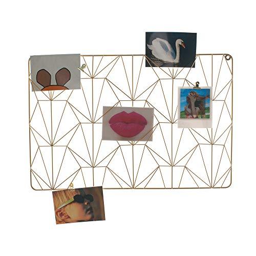 HAB & GUT Bilderrahmen CR031- Messing Drahtgitter für Wand Kartenhalter 60 x 40 Art Deco