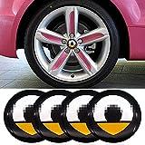 ZWH-box 4 Stück Hochwertige Auto Radnabe Mittelabdeckung Nabenabdeckung Aufkleber Logo Logo Radverkleidung Trimmdekoration für Smart...