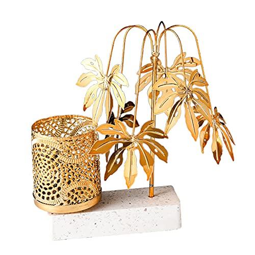 perfk Creative Design Pen Holder Tree Figurine Small Object Organizer for Home Office Room Desktop Organization Gift Ornament - Style 1