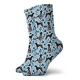 leyhjai Braco alemán perro de tela perros y diseño de senderismo tela de montañas para perros - mint_69 Calcetines cortos deportivos 30cm / 11.8 pulgadas Adecuado para hombres mujeres