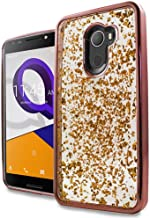 For Tmobile REVVL Case, Alcatel A30 Fierce Case ; Phonelicious Tmobile REVVL [Slim] Dual Layer Durable Hybrid [Drop Protection][Shockproof] Phone Cover + Screen Protector & Stylus (ROSEGOLD FLAKE)