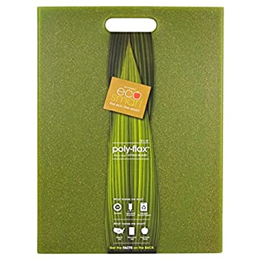 EcoSmart PolyFlax Cutting Board, Green, 12  by 16 , Recycled Plastic and Flax Husk, Made in the USA by Architec