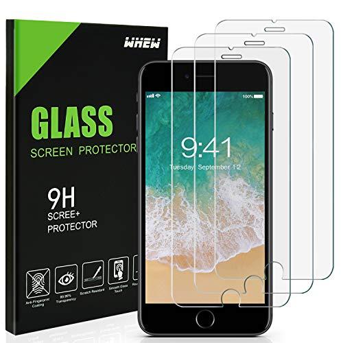 Preisvergleich Produktbild Whew Panzerglas Schutzfolie Kompatibel iPhone 6 / 6S, [3 Stück] Panzerglasfolie mit 3D Touch kompatibel,  9H Härte, HD Ultra-Klar Displayschutzfolie Anti-Kratzer, Anti-Fingerprint, Blasenfrei.