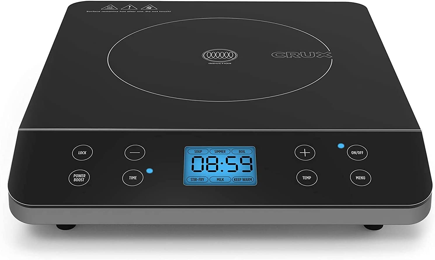 CRUX Countertop Induction Burner Portable Electric Hot Plate Louisville-Jefferson County Mall Sale SALE% OFF S