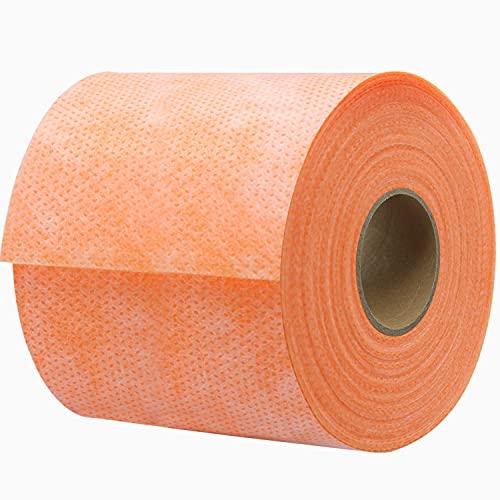 Wasserdichtes Membranband 12,7 cm x 98,5 cm Abdichtungsstreifen Wasserdichtes Polyethylen-Gewebe Wasserdichtes Membrangewebe Band für Fliesen, Duschwände, Badezimmerböden, Sauna und Dampfbad