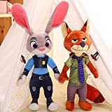 Yonggic Zootopia Judy Hopps and Nick Wilde Plush Toy Gift Set 2