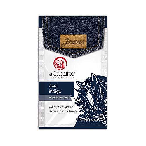 el Caballito Jeans Colorante para Ropa Índigo 20g