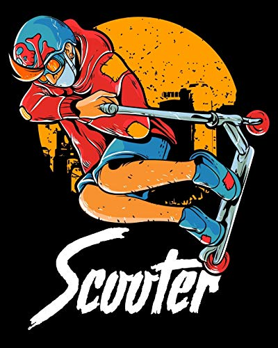 Scooter: Cute & Funny Scooter Kid Riding Tricks 2020-2021 Weekly Planner & Gratitude Journal (110 Pages, 8