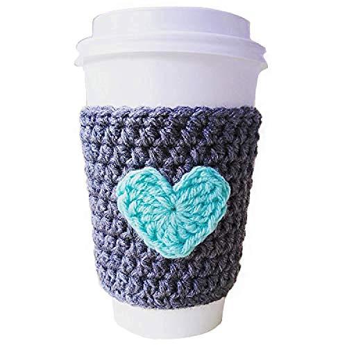 crochet coffee cup cozy - 3