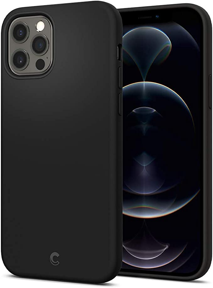 CYRILL Spigen Silicone Designed for Case iPhone 12 / iPhone 12 Pro Case Cover (2020) - Black