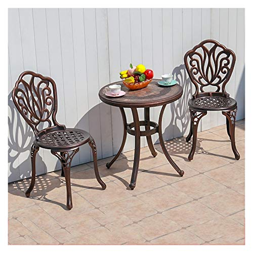 DYYD Outdoor Dining Sets Outdoor Cast Aluminum Dining Set for Patio or Deck, for Balcony, Poolside, Backyard Garden Furniture Sets