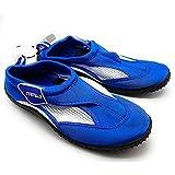 Chanclas, calzado de neopreno, zapatos de agua, zapatillas anti deslizamiento para deportes acuáticos, mar, playa y piscina, secado rápido, Unisex Adultos (Azul, Talla 38)