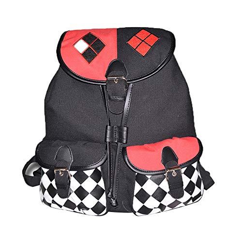 Suicide Squad School Bag Mochila de Estilo Simple Moda Tendencia Anime Mochila Montañismo Viaje Mochila Suicide Squad Mochila Impermeable (Color : A01, Size : 30 X 17 X 38cm)