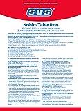 SOS Kohle-Tabletten, Kohletabletten bei Durchfallerkrankungen, Vergiftungen durch Nahrungsmittel, Durchfall Tabletten ideal für die Reiseapotheke, 2 x 30 Tabletten - 6