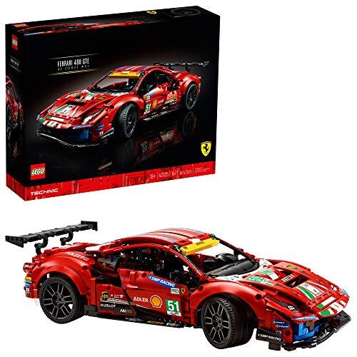 "LEGO Technic Ferrari 488 GTE ""AF Corse #51"" 42125 Building Kit; Make a Faithful Version of The Famous Racing Car, New 2021 (1,677 Pieces)"