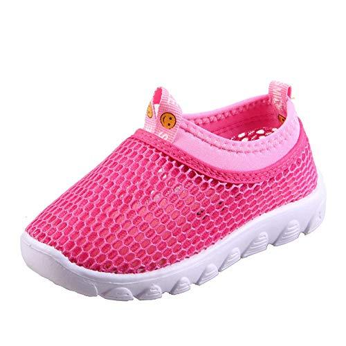 Zapatos de agua para niños pequeños, transpirables, de malla, para correr, para niños, niñas, correr, piscina, playa, color, talla 19 EU