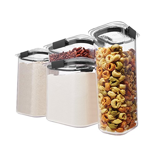Rubbermaid Brilliance Pantry Organization & Food Storage Containers with Airtight Lids, Set of 4 (8 Pieces Total)