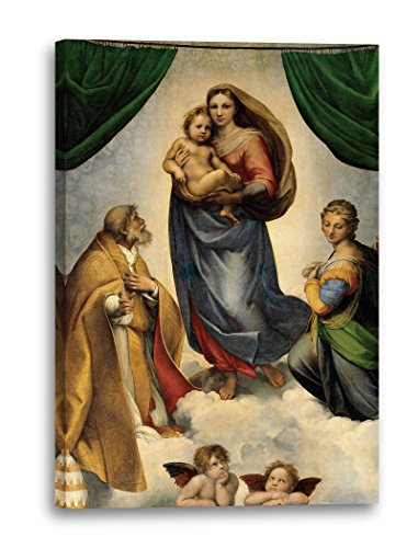 Printed Paintings Leinwand (60x80cm): Raphael - Sixtinische Madonna