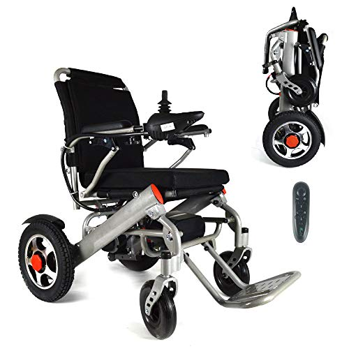 2021 New Folding Ultra Lightweight Electric Power Wheelchair, Silla de Ruedas Electrica, Air Travel Allowed, Heavy Duty, Mobility Motorized, Portable Power Chair