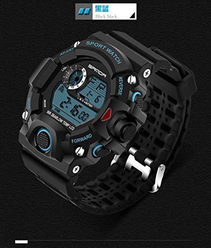 SJXIN Coole stilvolle Sanda-Uhr, Sanda Mode lässig Sportuhr Persönlichkeit weiblich kreative Männer neutral wasserdicht elektronische Uhr Sportuhren (Color : 3)