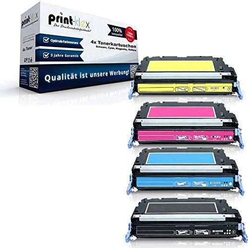 Print-Klex 4x Kompatible Premium XXL Toner für HP Color LaserJet 4700 ColorLaserJet 4700DN 4700DTN 4700N 4700PHPlus HP643A HP 643A - Sparset (alle 4 Farben) Premium Line