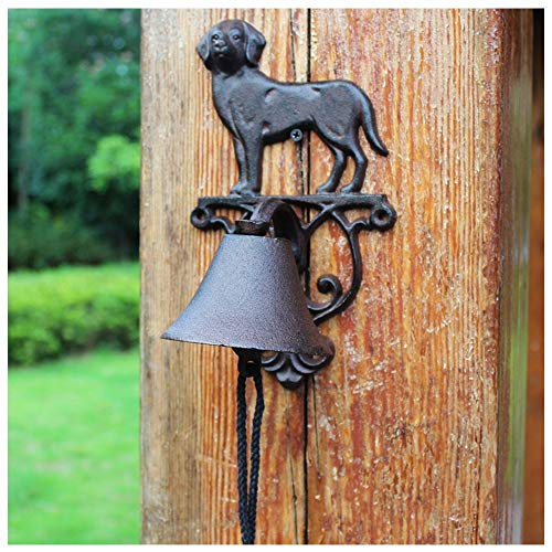Moldeada Timbre de la Puerta de Bell de la Vendimia del Perro del Hierro Timbre Antiguo telón de Acero Colgante Cafe Campana de Mano