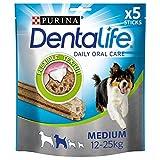Purina DentaLife Medium Tägliche Zahnpflege-Snacks für mittelgroße Hunde, 5er Pack (5 x 115 g)