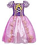 Jurebecia Robe Princesse Fille Raiponce Lepe Costumes Robes de soirée des Filles...
