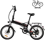 BIKFUN Electric Bike Mountain e-bike, 20/26 inch Electric Assisted Bicycle with 36V 8Ah Lithium Battery, 250W Motor, 7/21 Speed Shifter Accelerator
