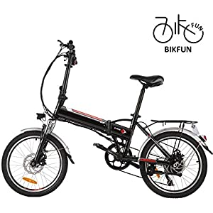 Electric Bikes BIKFUN Electric Bike Mountain e-bike, 20/26 inch Electric Assisted Bicycle with 36V 8Ah Lithium Battery, 250W Motor, 7/21 Speed Shifter Accelerator [tag]
