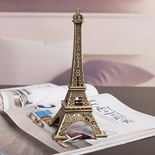 Eiffel Tower Cake Topper - Eiffel Tower - 1Pc Creative Gifts 10cm Metal Art Crafts Paris Eiffel Tower Model Figurine Zinc Alloy Statue Travel Souvenirs Home Décor - Effiel Tower Cake