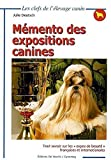 memento des expositions canines