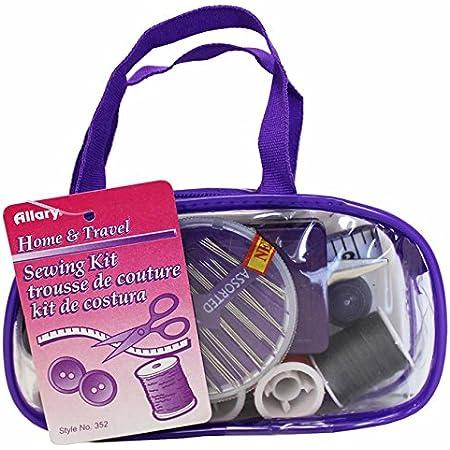 Allary 352 Home Kit De Costura De Viaje Con Funda Con Cierre Varios Colores Home Kitchen