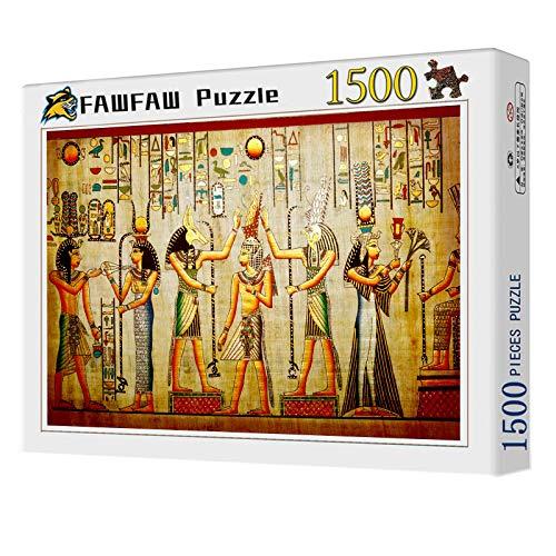 FAWFAW Puzzle Personalizado 1500 Piezas, Mitos del Antiguo Egipto, Deificación De Animales Y Muertos 1500/1000/500/300 Piezas