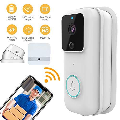 M-TOP Timbre Inalambrico Exterior Impermeable Videoportero WiFi Alexa Video Doorbell Pro con ángulo Ajustable Soporte Audio Bidireccional HD Visión Nocturna y Detección de Movimientosquare