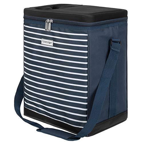 anndora Kühltasche 32 Liter Navy blau weiß - Kühleinsatz passend für reisenthel carrycruiser