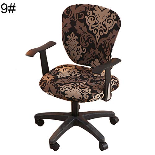 Ywbtuechars💗 Chair Cover, Swivel Chair Cover Stretchy Office Armchair Protector Seat Backrest Decoration, Dust Cover - 9#