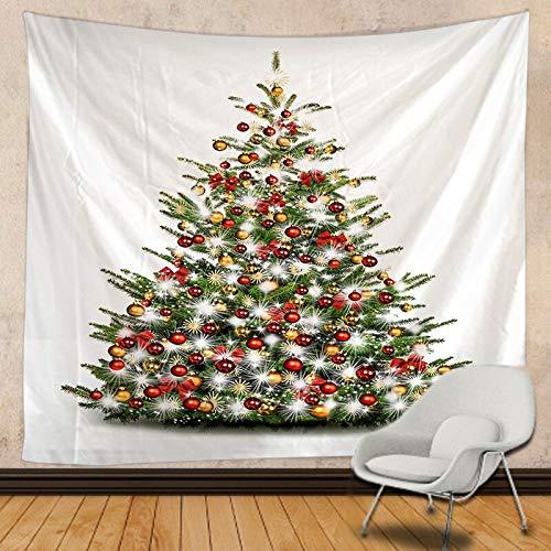 JXWR Tapiz de Navidad Mandala Tapiz Colgante de Pared decoración Boho Tapiz de Encaje Hippie 150x130