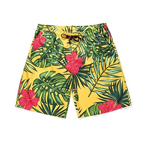 2020 planten 3D geprint strand broek casual thuis heren zomer surfen shorts (Size : XXL)