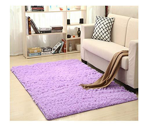 asdfkong Teppiche Superweiche Seide Wollteppich Indoor Modern Shag Area Teppich Seidige Schlafzimmer...