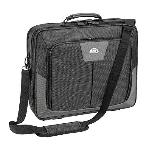 Pedea Laptoptasche Premium Notebook-Tasche bis 17,3 Zoll (43,9 cm) Umhängetasche mit Schultergurt, Grau