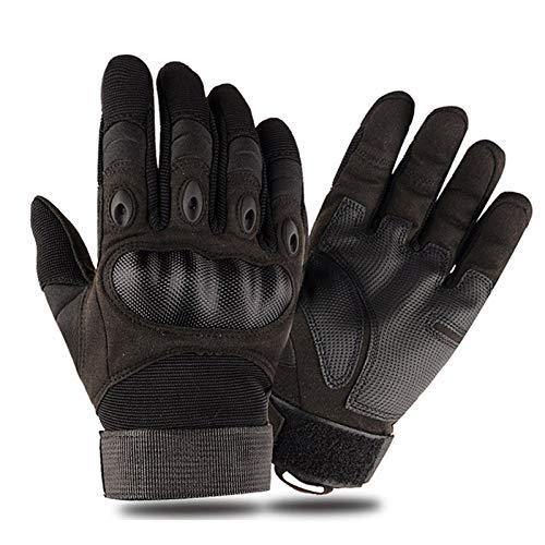 Guantes Moto Pantalla táctil de la motocicleta guantes de cuero artificial de dedo duro nudillo completo de protección del engranaje del motorista que compite Montar Moto del motocrós Guantes Pantalla