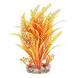 KESOTO Künstliche Pflanzen lebensechte Kunstpflanzen Aquarium Terrarium Deko - Orange