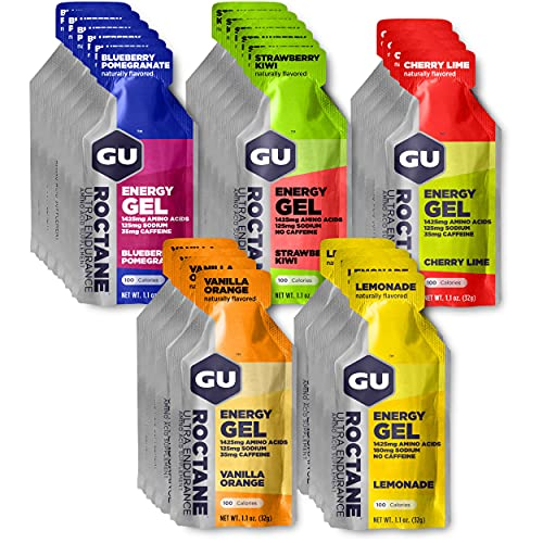 GU Energy Roctane Ultra Endurance Energy Gel, 24-Count, Assorted Flavors (Packaging May Vary)