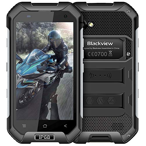 Outdoor Handy ohne Vertrag, Blackview BV9700 Pro Dual-SIM IP69K Robustes Smartphone - 5,84 Zoll FHD 16MP+8MP+16MP Triple-Kamera 128GB/6GB Helio P70 4380mAh Akku - Nachtsicht/Herzfrequenz/Luftqualität