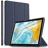 ELTD Funda Carcasa para Huawei MediaPad M6 10.8, Ultra Delgado Stand Función Smart Fundas Duras Cover Case para Huawei MediaPad M6 10.8' Tableta, (Azul)
